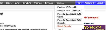 menu Panduan>Unduh Formulir